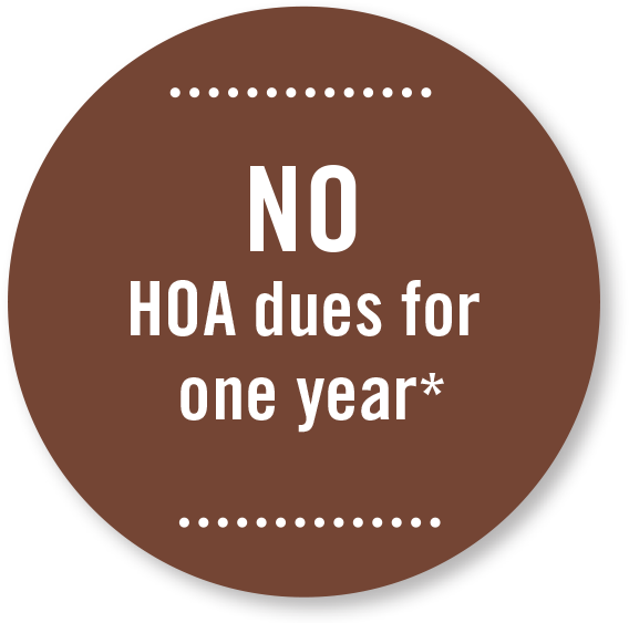 No HOA dues for one year