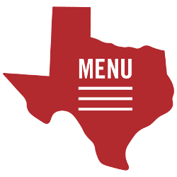 Menu toggle button shaped as Texas